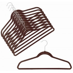 Slim-Line Brown Shirt/Pant Hanger