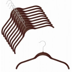 Slim-Line Brown Shirt Hanger