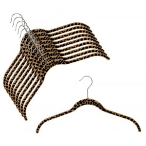 "Slim-Line Printed ""Cheetah"" Shirt Hanger"