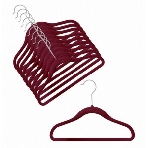 Children's Slim-Line Burgandy Hanger