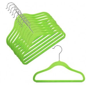 Children's Slim-Line Lime Green Hanger