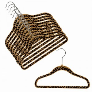 Children's Slim-Line Cheetah Print Hanger