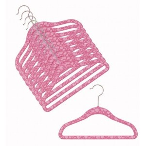Children's Slim-Line Heart Print Hanger