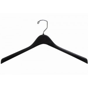 "18"" Deluxe Black Plastic Top/Coat Hanger"