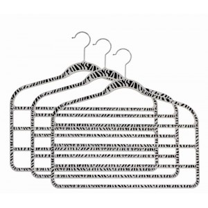 "Slim-Line Printed ""Zebra Striped"" Multi Pant Hanger"